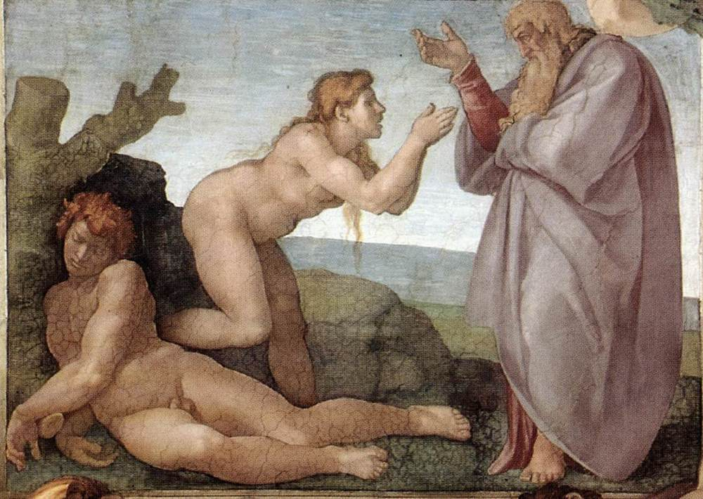 """The Creation of Eve,"" from the Sistine Chapel ceiling by Michelangelo. Public Domain image."