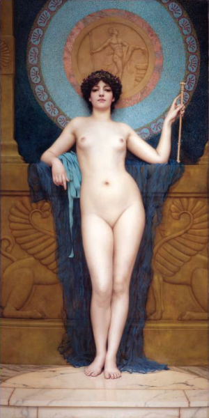"""Campaspe"" by John William Godward, 1896. Public Domain image."