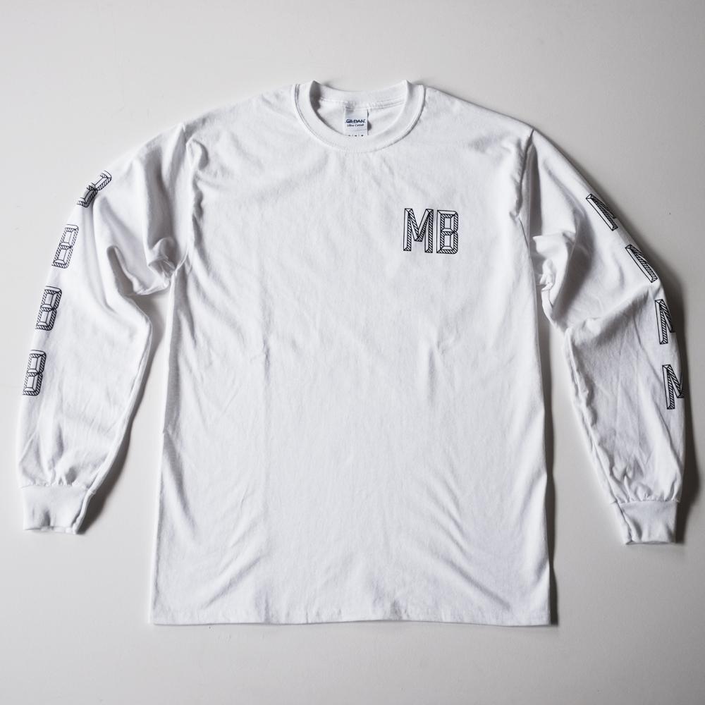 MB Logo Long Sleeve Tee - White