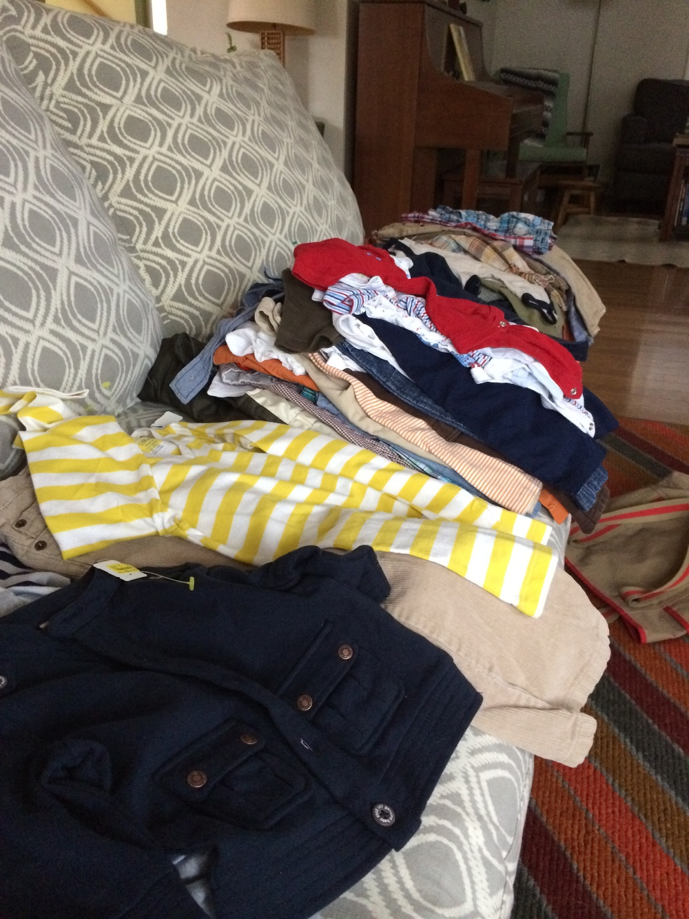 Everything she brought-roughly $110 worth of clothing from Goodwill.