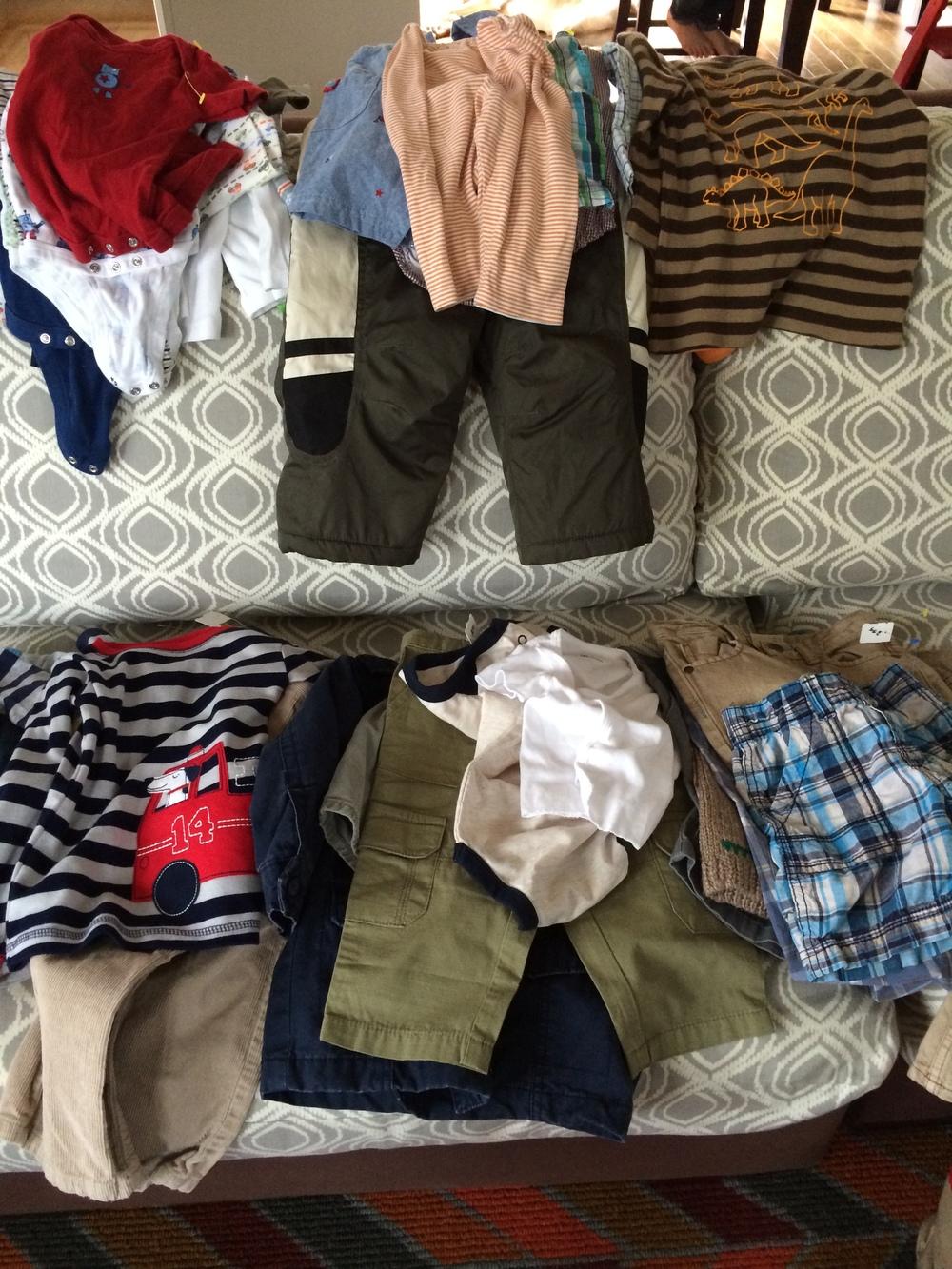 The clothes I kept.