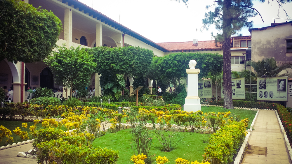 Courtyard/Gardens inside the university
