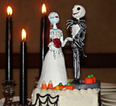"""Nightmare Before Christmas"" Cake Topper"