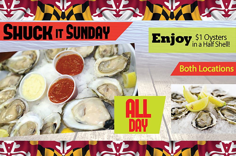 Sunday Special Offer by Crab Corner - oyster half shell