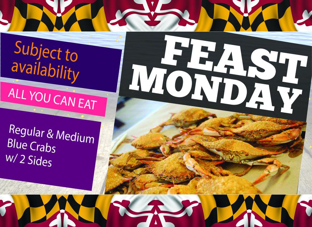 Feast Monday - Crab Corner's Monday Special