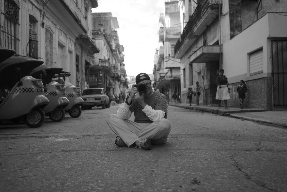 My favorite place in the world, shooting in the streets of Havana, November, 2014. Photo by Donovan Pee Mahoney.