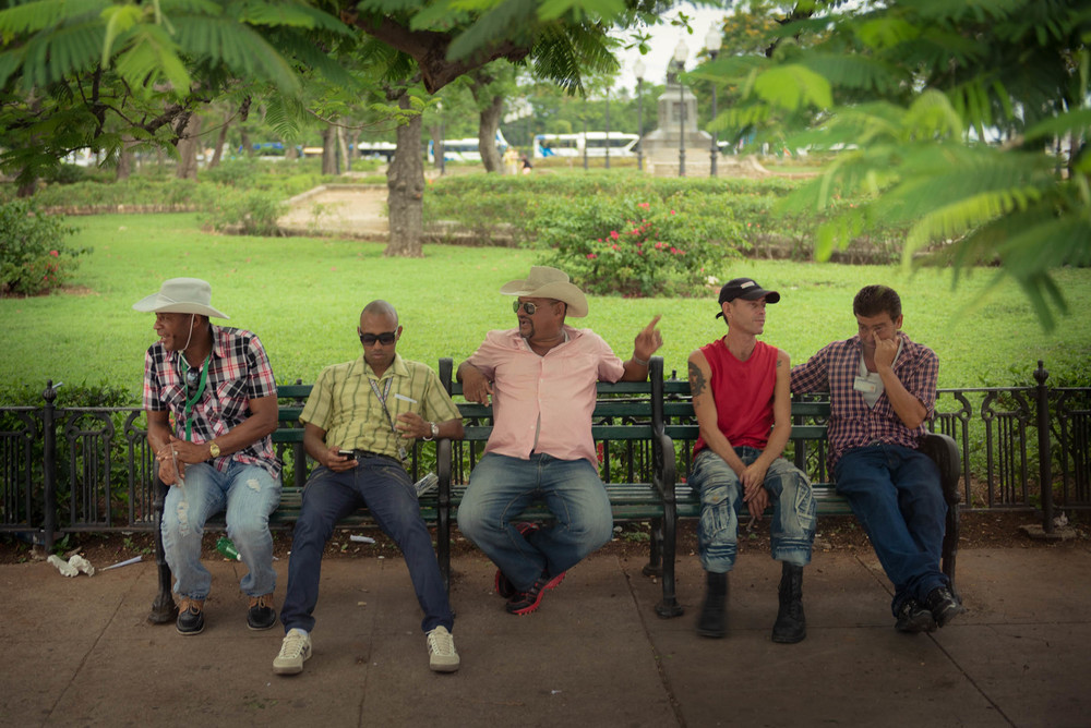 Cubans on a park bench in La Havana Vieja - This was the very first photo I ever took in Cuba. It was taken before we even exited the bus in La Habana Vieja. I wasn't even off the bus and I couldn't wait to start shooting photos!