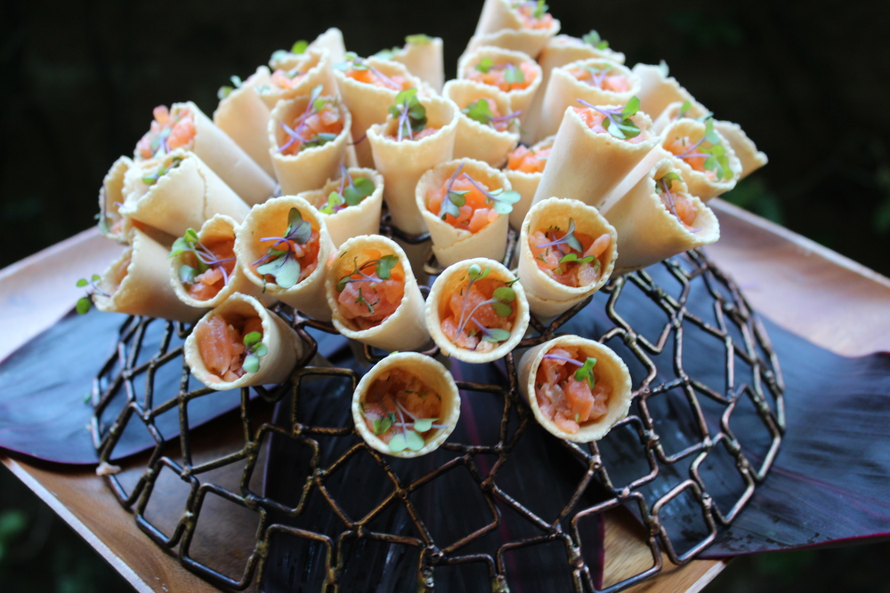 Our Smoked Salmon Cones.