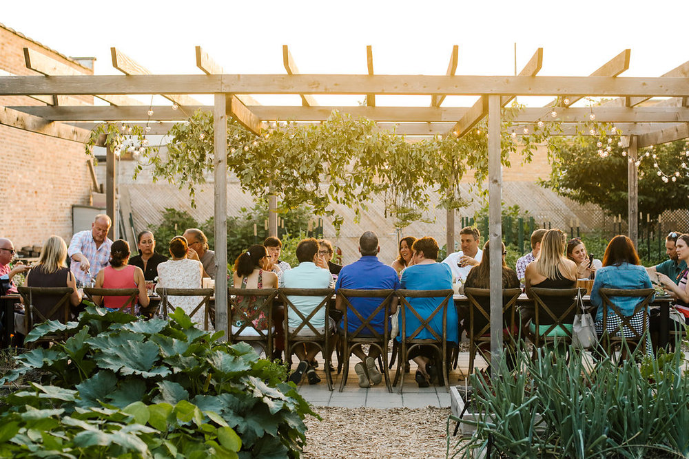 Host your next event at Big Delicious Planet! BDP's Canteen and Urban Farm are perfect locations for small seated events for up to 24 guests or cocktail-style parties for up to 60 guests. The Canteen is available year round, and the Urban Farm is available June through September. We've hosted bridal + baby showers, rehearsal + corporate dinners, and fundraisers in both spaces. - LEARN MORE