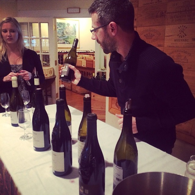 Eric Bonnet dropping a knowledge bomb at the #JEmerson tasting.
