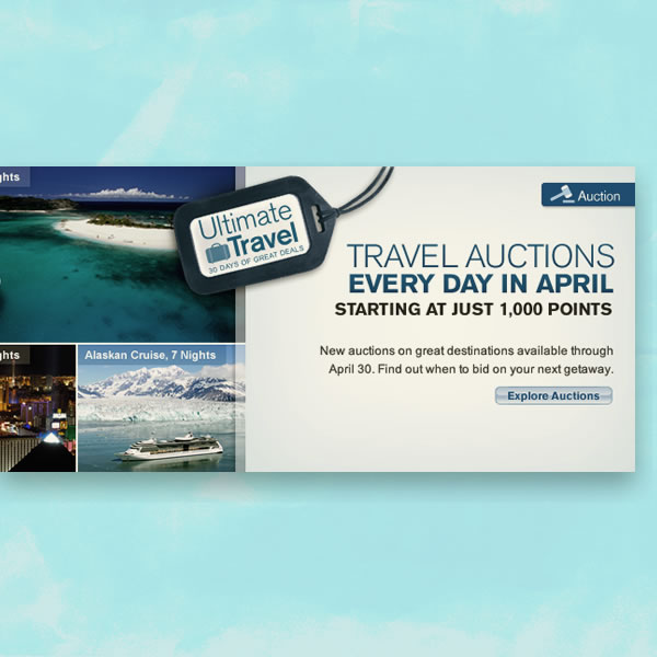 Travel Auctions Campaign