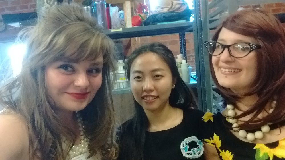 All dressed up for the 50's themed Bray Bash with my fellow summer residents Shiyuan Xu and Iva Milovanovic