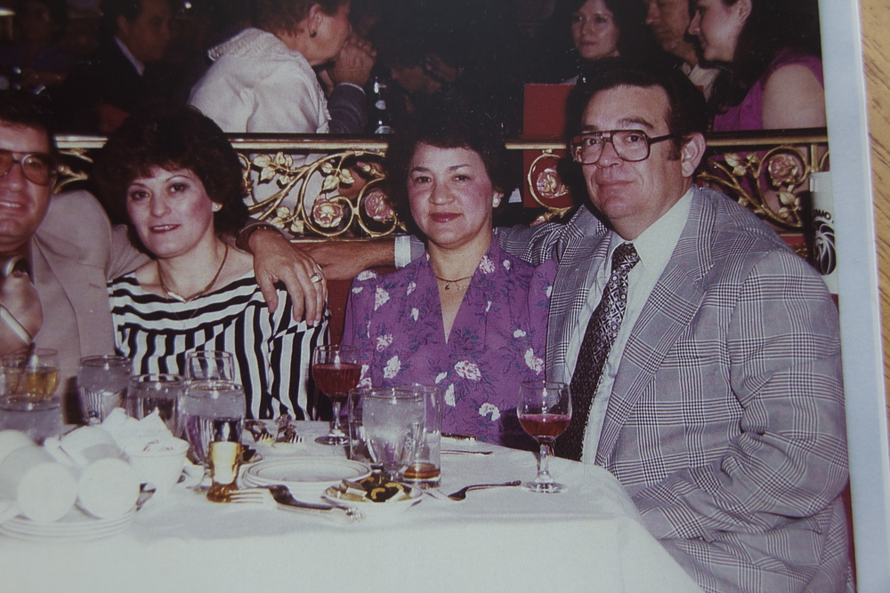 Young Roland and Gladys at a get-together with friends. Photo taken from the family archive.