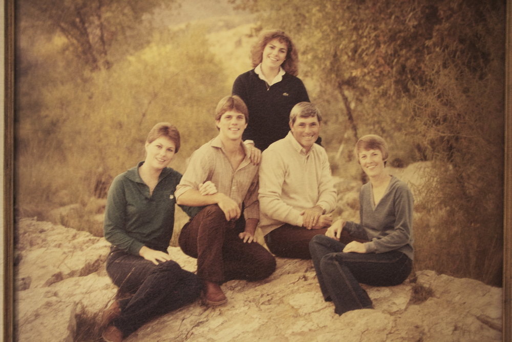 The Minariks. Left to right Cheryl, Steve, Beth, Smith, Mary Kay. Photo taken from the family archive.