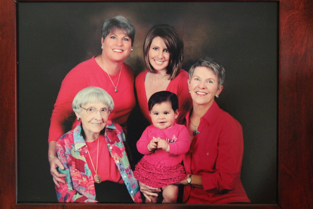 Five generations of one family. Mary Kay's mother passed away last year at 96. Photo taken from the family archive.