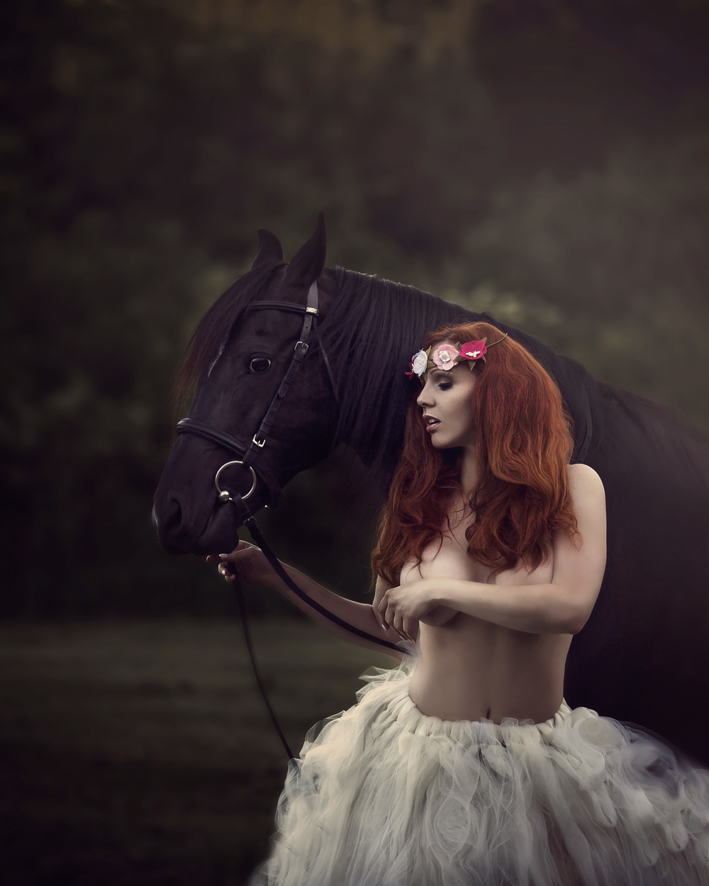 boudoir-nj-red head-horse-fairy-forest