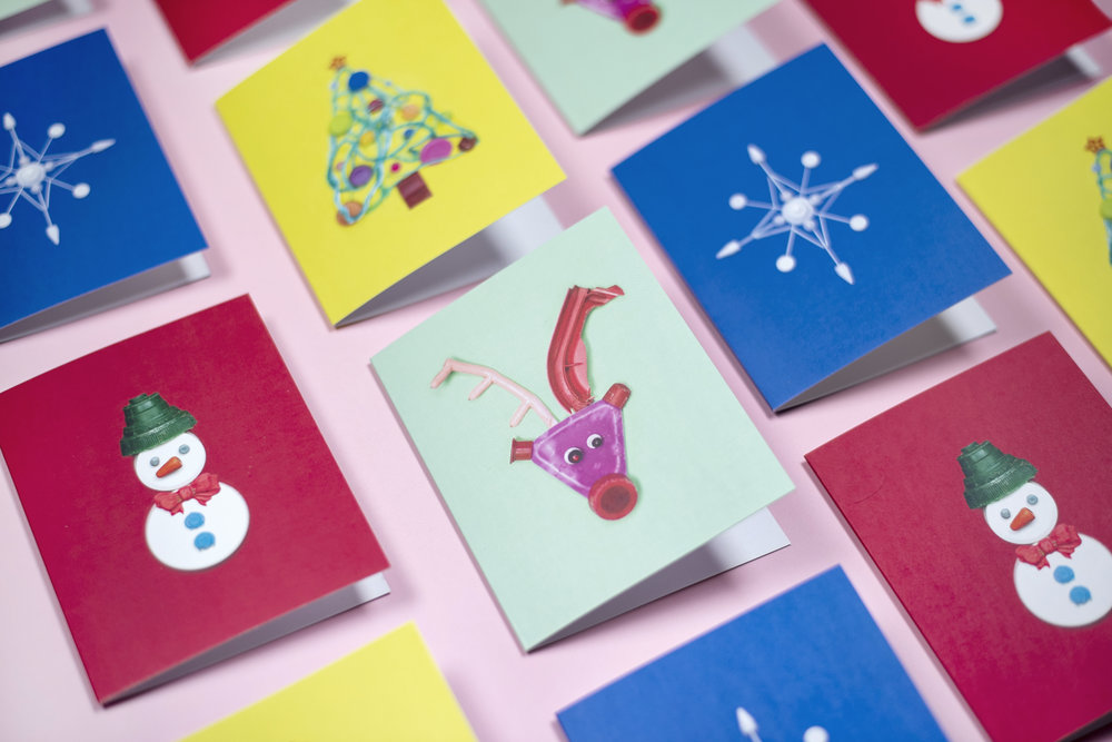beach_plastic_greeting_cards_christmas_variety_rudolph_snowman_tree_snowflake_1.jpg