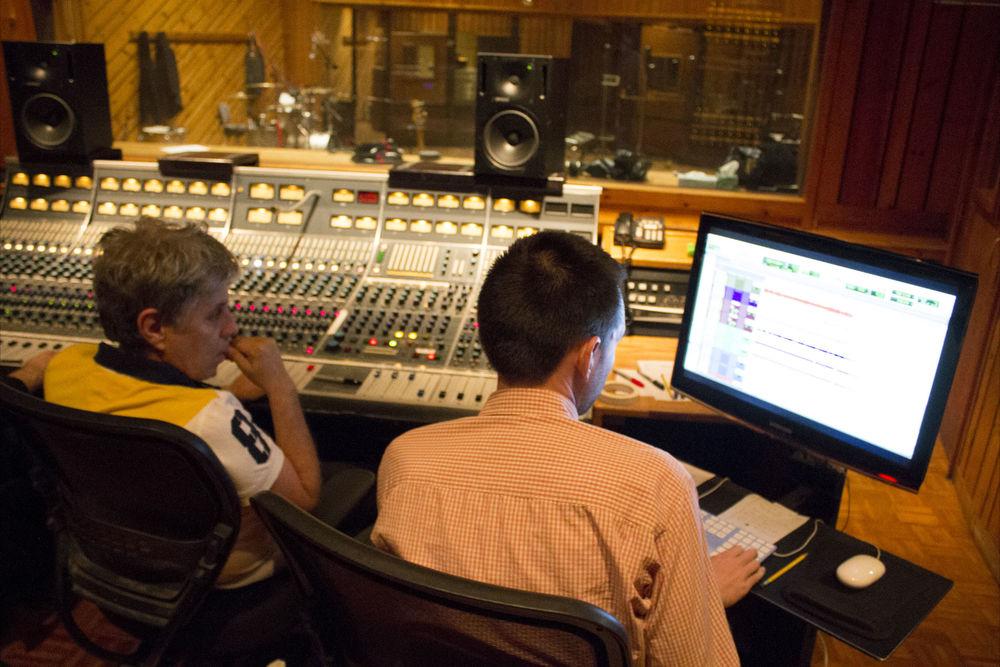 Dirigindo a gravação no Avatar Studios - NY