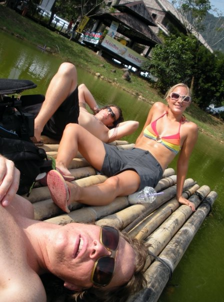 The three of us floating around in Borneo.