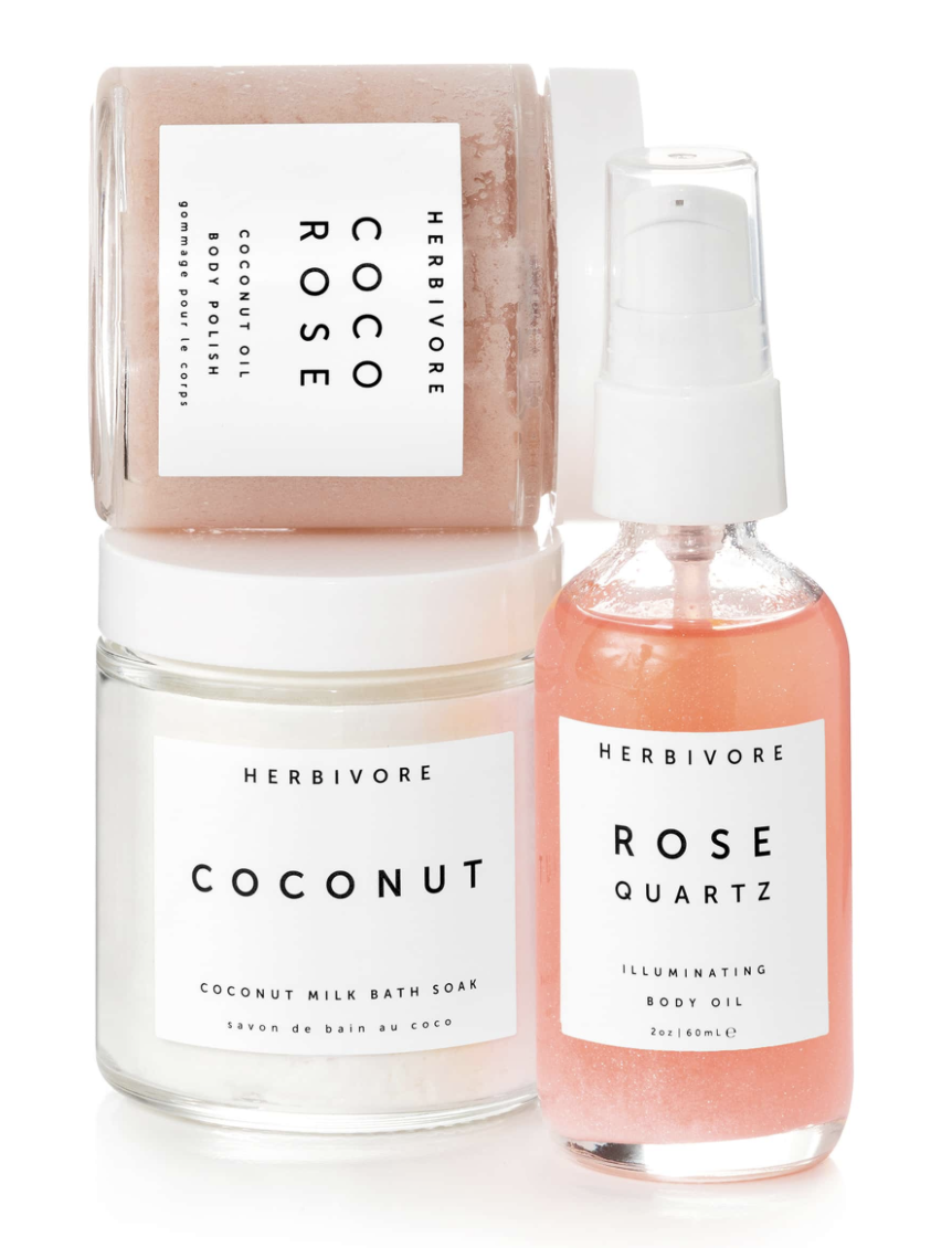 5. Self Love Bath & Body Ritual Kit - Herbivore BotanicalsPrice: $36 (Value: $51)Your limited-edition trio of bath and body essentials to help someone you love add a little self love into their daily routine. Comes with a coconut oil body polish, illuminating body oil as well as a coconut milk bath soak! Share a little self care this holiday season.