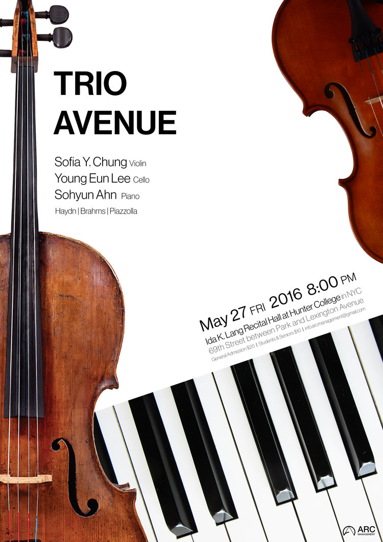 Pianist Dr Sohyun Ahn Simplex Design Studio Was Commissioned To Concert Poster Program And Tickets For Trio Avenues In New York