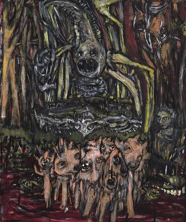 Nancy Ogilvie «Ange en Redland» (2013) acrylique sur bois  (20' x 24'')(MGL4687) .jpg