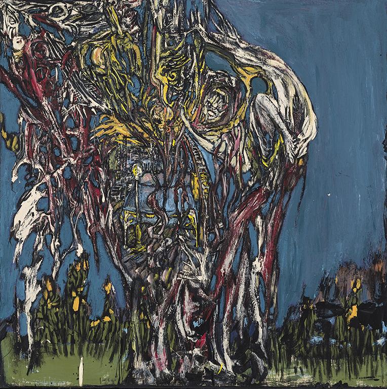 (Nancy Ogilvi «Le cerveau de la hanche» (2013) acrylique sur bois (24'' x 24'')(MGL4684).jpg
