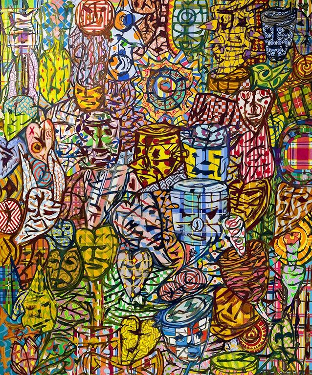 02. Kim Moodie u00ABEveryoneu00AB (2014) huile et acrylique sur  toile (183cm x 152cm) - Copie.jpg