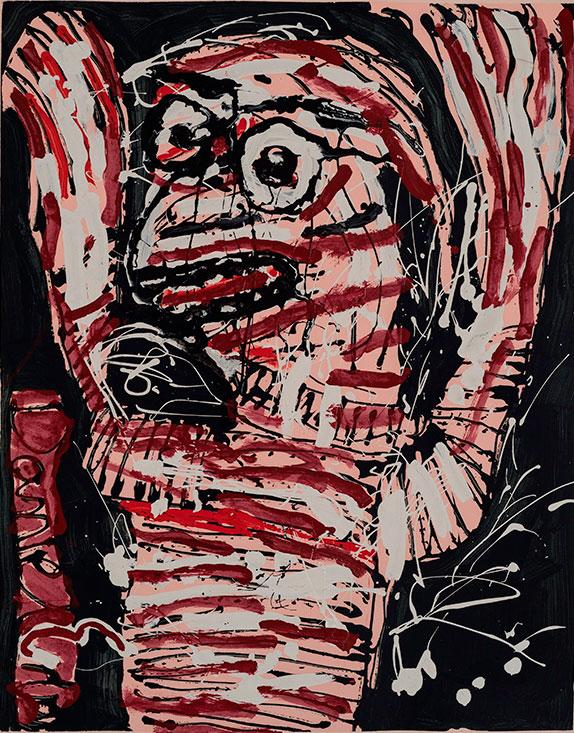 Daniel Erban «Alea Jacta Est» (2008) technique mixte sur carton (100cm x 80cm)