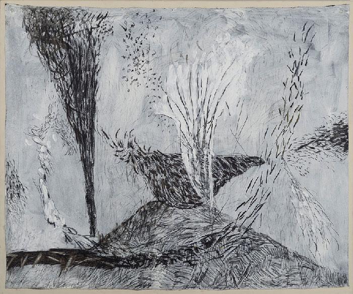 Marc Garneau «Amalgame (1996) technique mixte sur toile (154cm x 185cm)