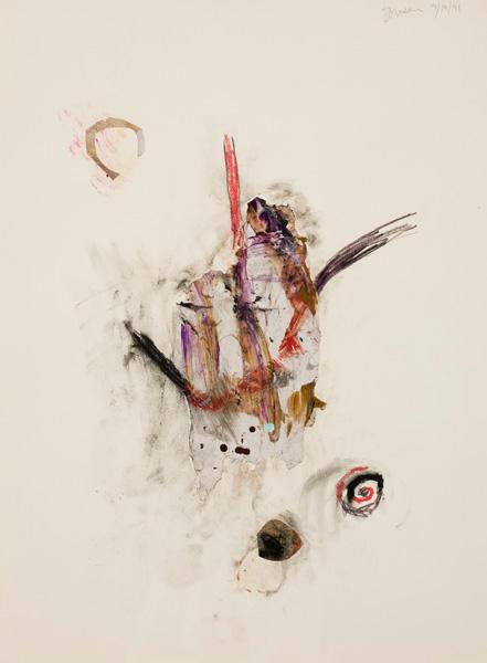 Marc Garneau (1991) «09.10.91» technique mixte sur papier (60cm x 40cm)