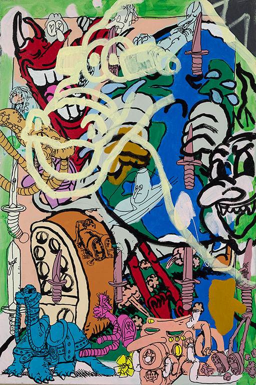 Étienne Chartrand «The Night the Earth Cried» (2013) technique mixte sur toile (91cm x 61cm)