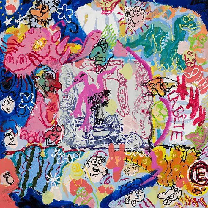 Étienne Chartrand «La bête lumineuse» (2013) technique mixte sur toile (91cm x 91cm)