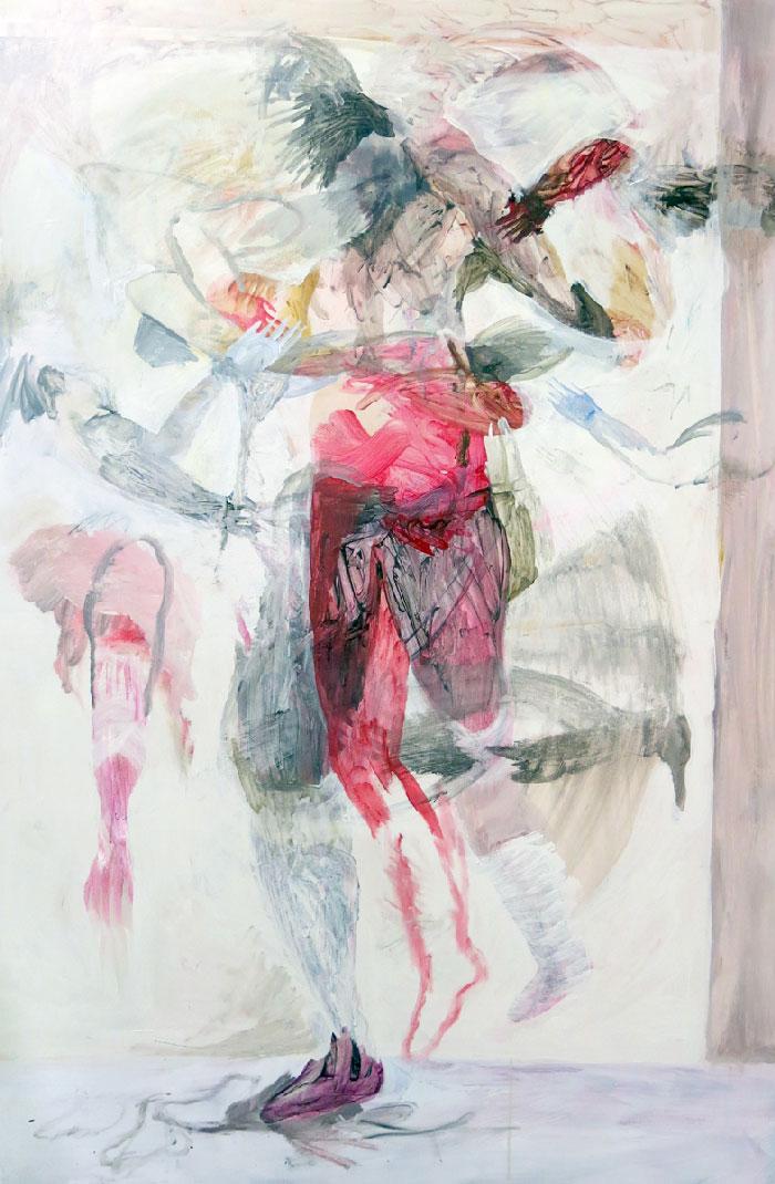 Scott Harber «Sans Titre #02» (2014) acrylique sur bois (152cm x 122cm)