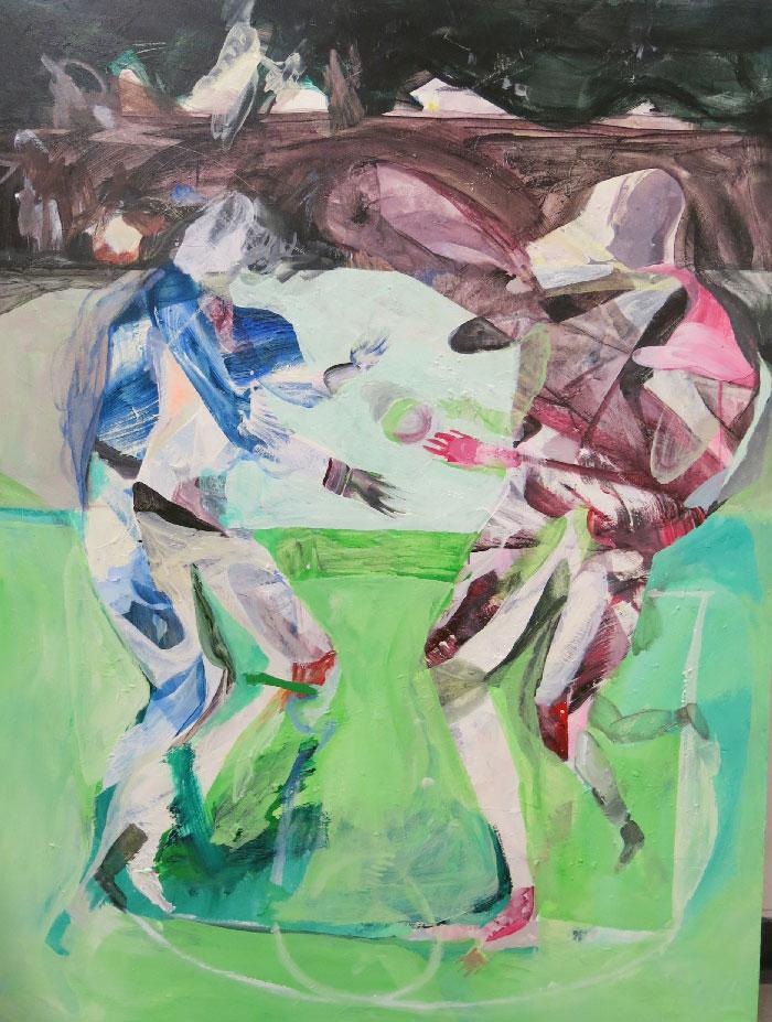 Scott Harber «Sans Titre #04» (2014) acrylique sur bois (122cm x 91cm)