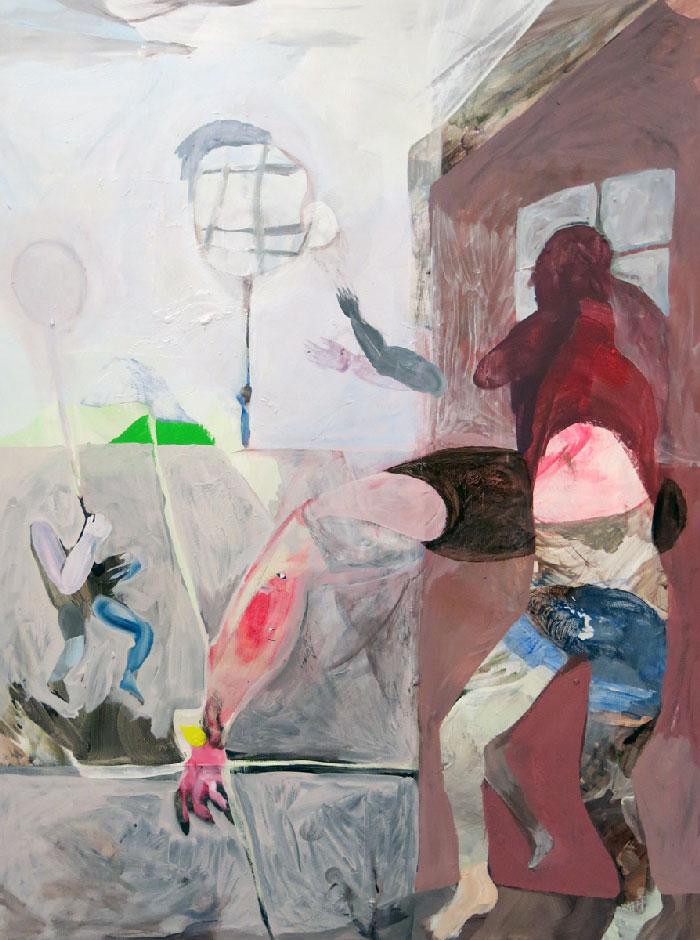 Scott Harber «Sans Titre #07» (2014) acrylique sur bois (76cm x 102cm)