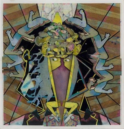 Max Wyse A W alled  Musician (2012) acrylique et pastel sur feuille d'acrylique (63cm-x-61cm)