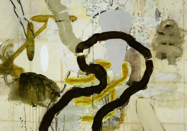 Jean-Sébastien Denis Forêt #8 (2006) acrylique sur toile (194cm x 274cm)