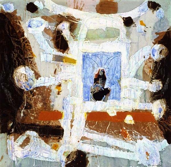 """Michel Beaucage Talking Machine (2006) acrylique sur toile (46"""" x 46"""")"""