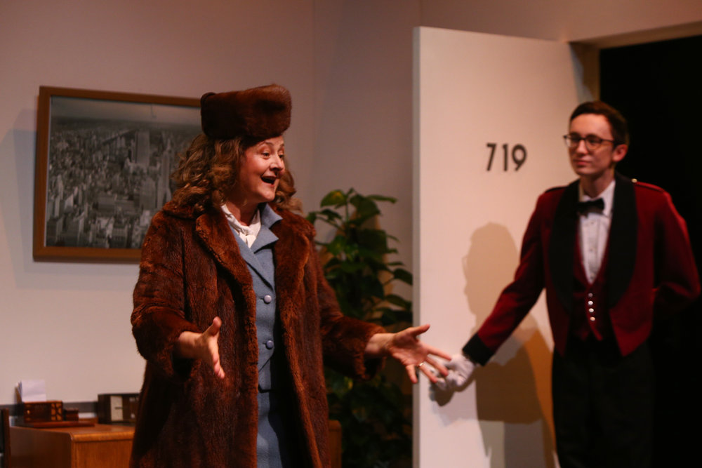 1. Karen Nash (Odile Le Clezio) and Bellhop (Alex White) - Plaza Suite - Visitor From Mamaroneck.jpg