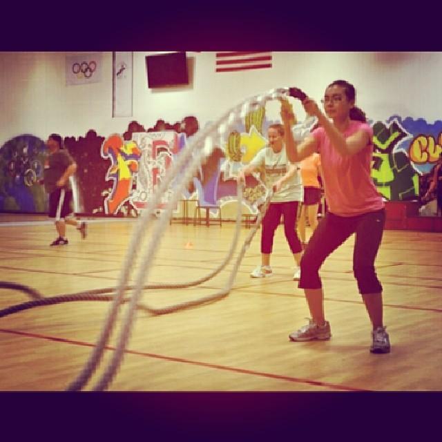 Battling ropes! #impactbootcampaz #fitness #battlingropes #bootcamp #tagsforlikes #likesforlikes #20likes #followme