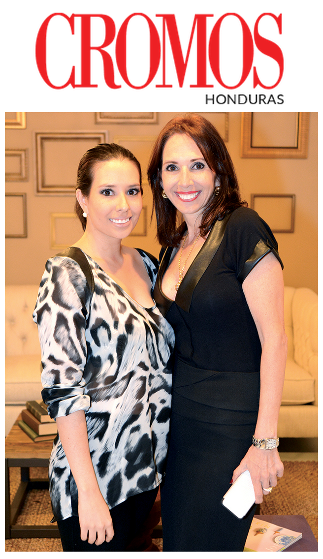 Ana Cristina Aguilar and Ana Galeano at the opening of AG Designs, photo from Cromos Honduras