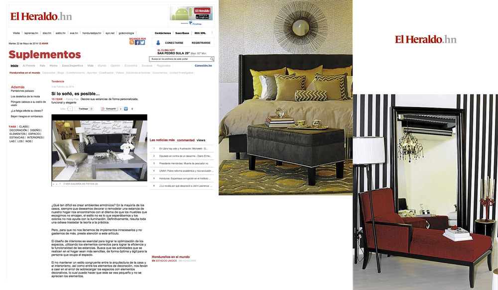 AG Designs featured in El Heraldo