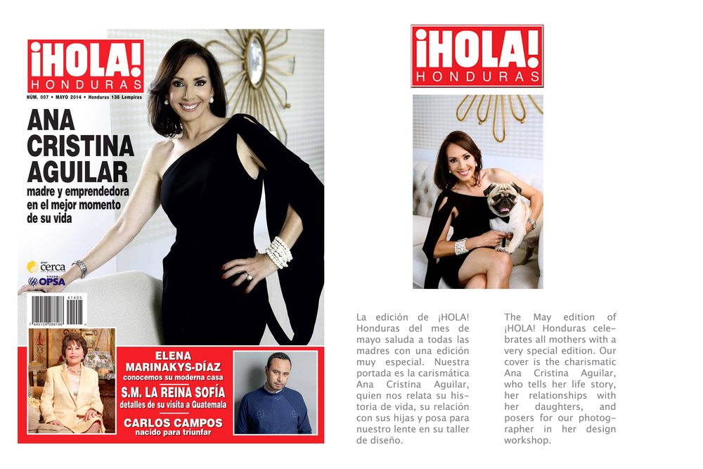Ana Cristina Aguilar featured in Hola! Honduras