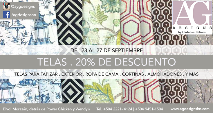 Fabrics sale at A.G. Designs in Honduras