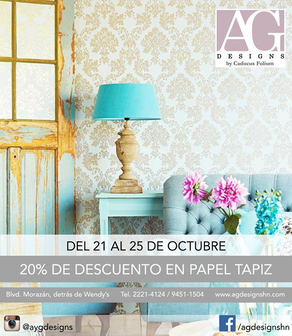 Limited Time Wall Paper savings from A.G. Designs