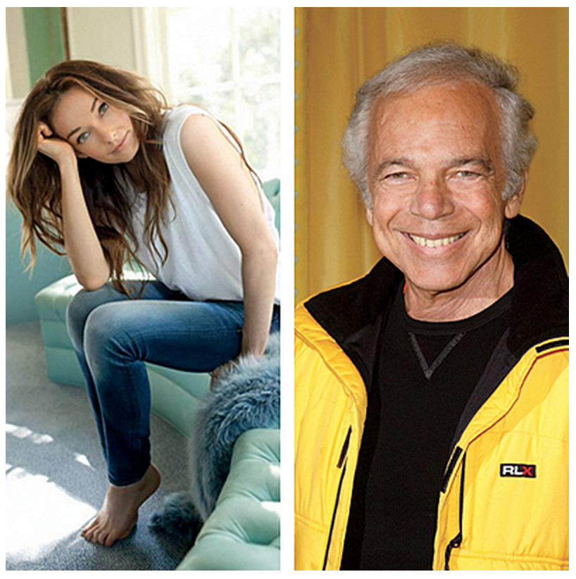Kelly Wearstler (left) and Ralph Lauren. Photo from Coastal Living