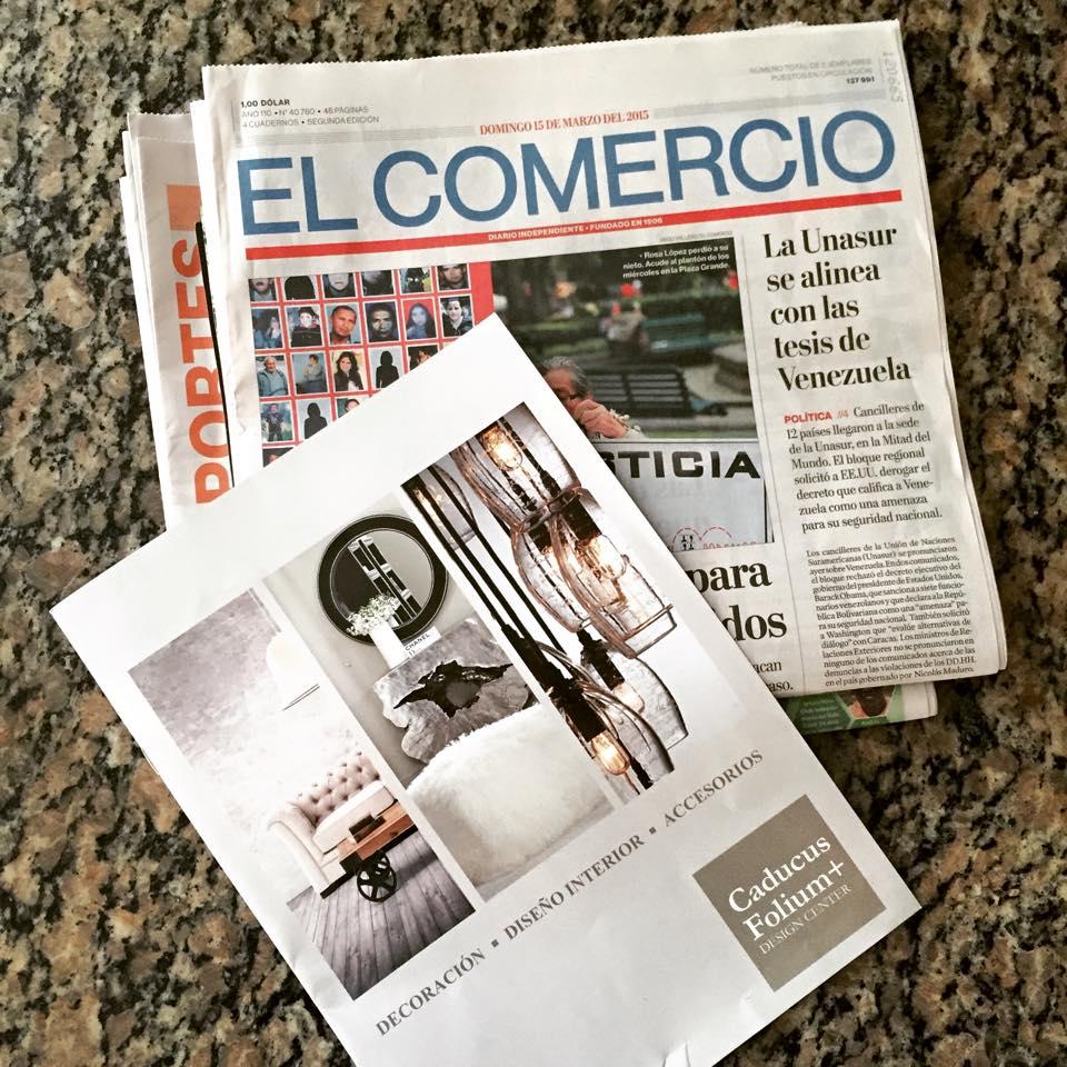 Caducus Folium in El Comercio