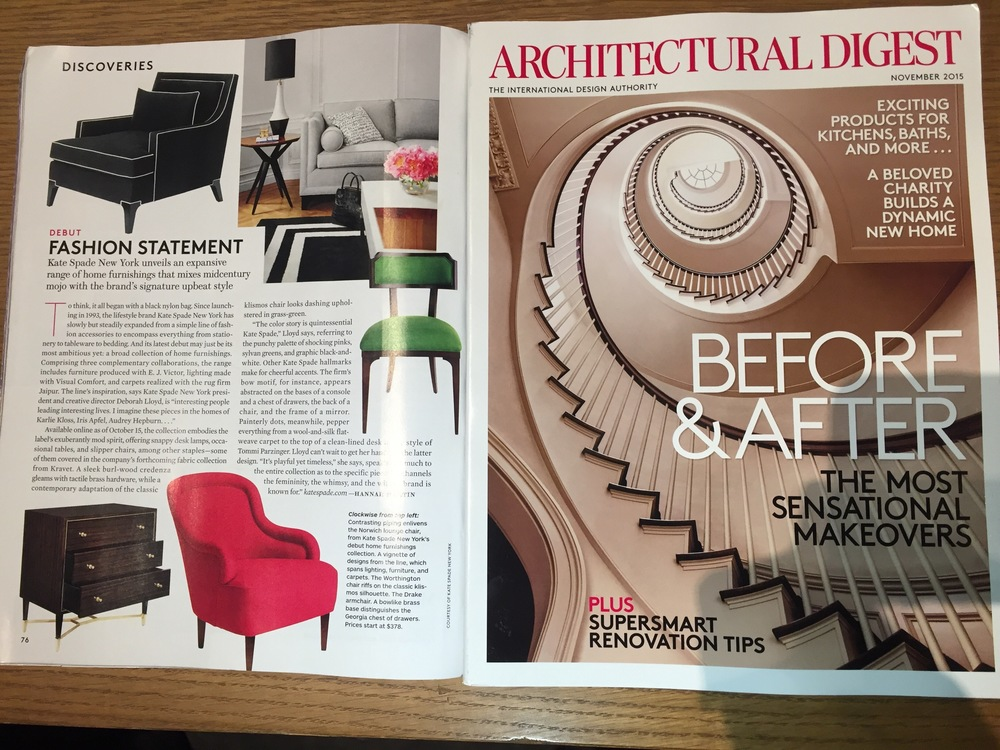 Kate Spade in Architectural Digest, November 2015