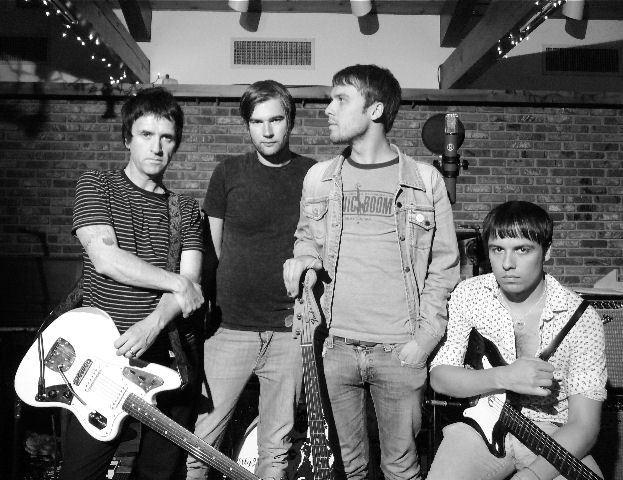 (L to R) Johnny Marr & brothers Ross, Gary & Ryan Jarman
